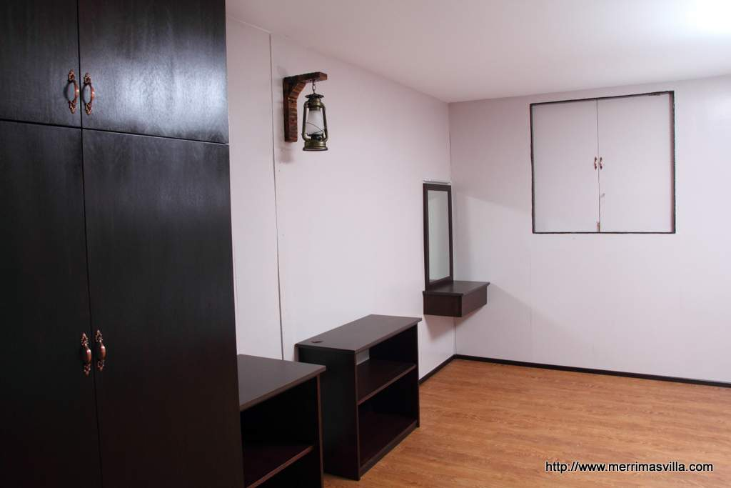 Equiped with wardrobe and cabinet